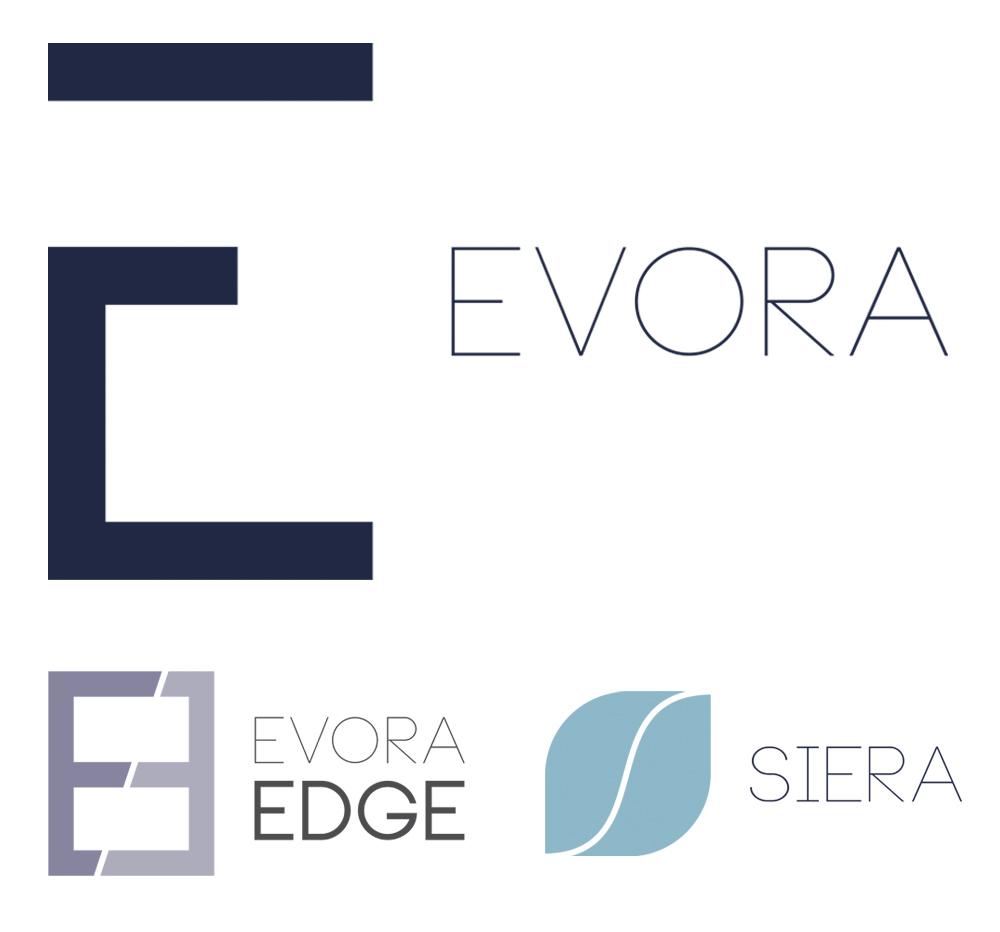 EVORA logo set